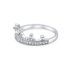 Eleanor 925 Sterling Silver & Cubic Zirconia Crown Ring - Vamoon Jewellery