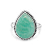 Sophia Amazonite 925 Sterling Silver Ring - Vamoon Jewellery