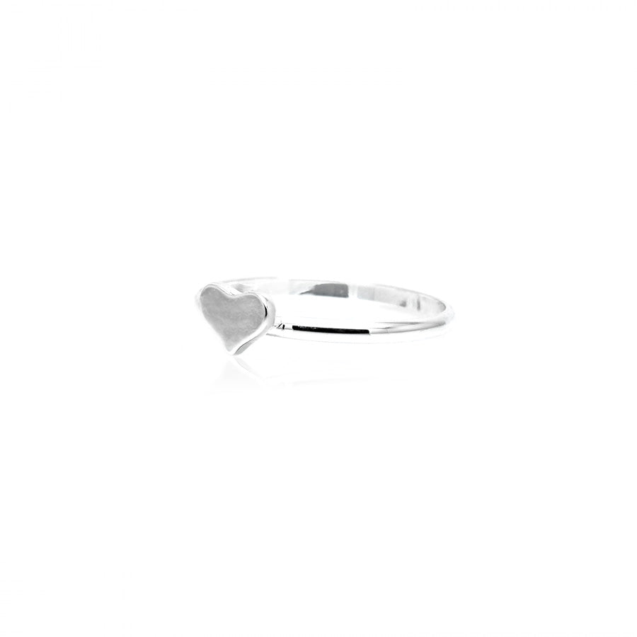 Solid Heart Midi/Stacking Ring
