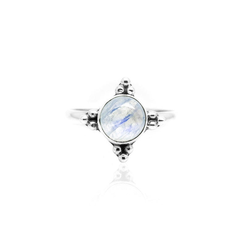 Apolune Moonstone Sterling Silver Ring