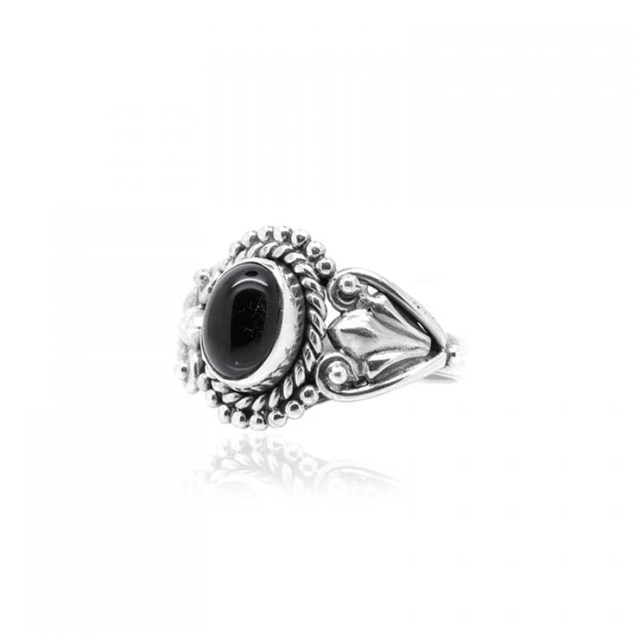 Black Royale Onyx & 925 Sterling Silver Ring