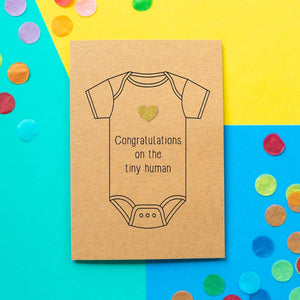 Funny New Baby Card | Congratulations On The Tiny Human - Bettie Confetti