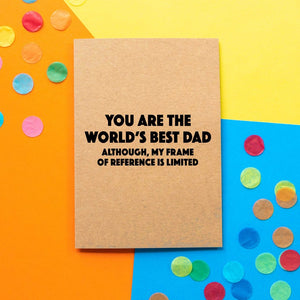 Funny Dad birthday card | Frame Of Reference - Bettie Confetti