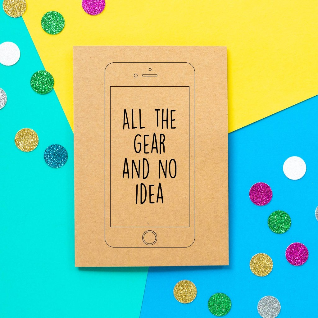 Funny Mother's Day Card | All The Gear No Idea-Bettie Confetti