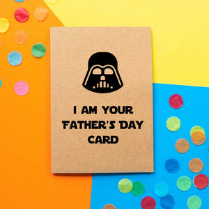 Funny Darth Vader Father's Day card | I am your father's day card. - Bettie Confetti