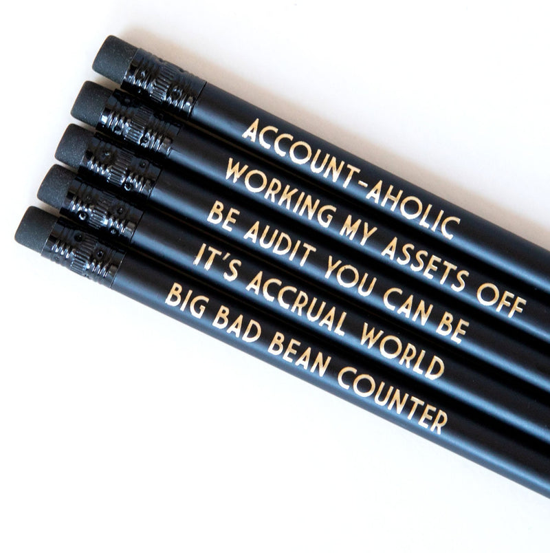 Accounting Pencils | Be Audit You Can Be - Bettie Confetti