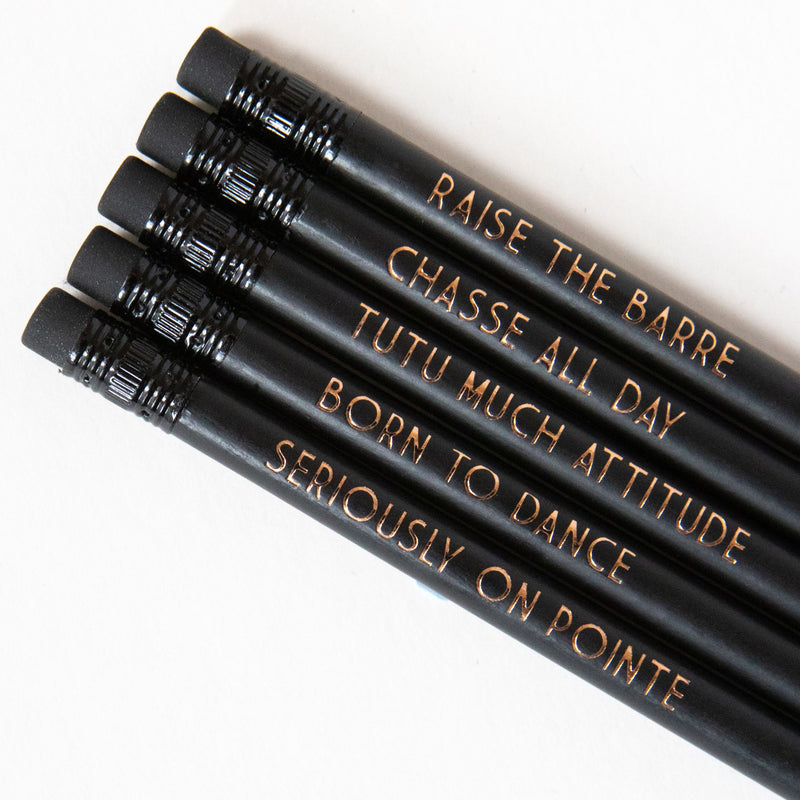 Ballet Pencil Set | Seriously On Pointe - Bettie Confetti