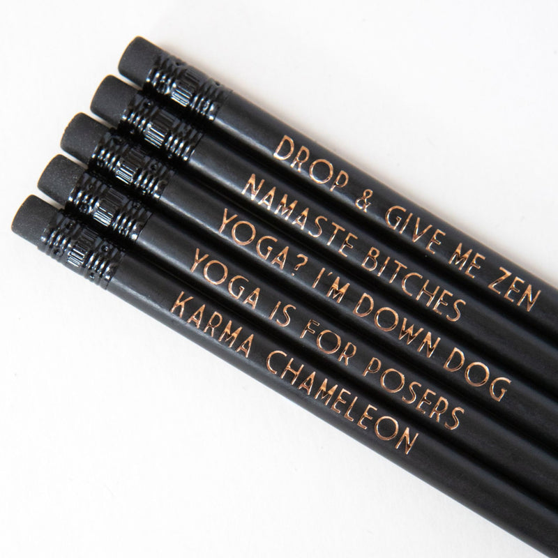 Yoga Gift | Yoga printed pencils | Yoga Teacher Gift - Bettie Confetti