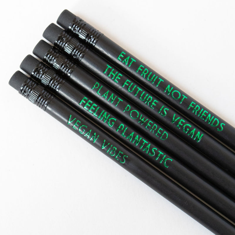Vegan Pencil Set | Eat Fruit Not Friends - Bettie Confetti
