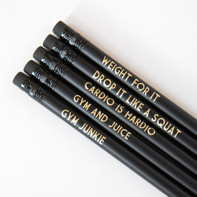 Gym Lover Pencils | Cardio Is Hardio - Bettie Confetti
