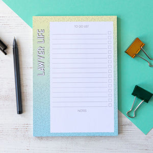 Lawyer Life Lawyer Notepad | A5 Notepad to do list