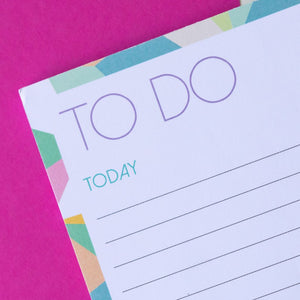 Today Tomorrow Someday Pastel | A5 Notepad to do list