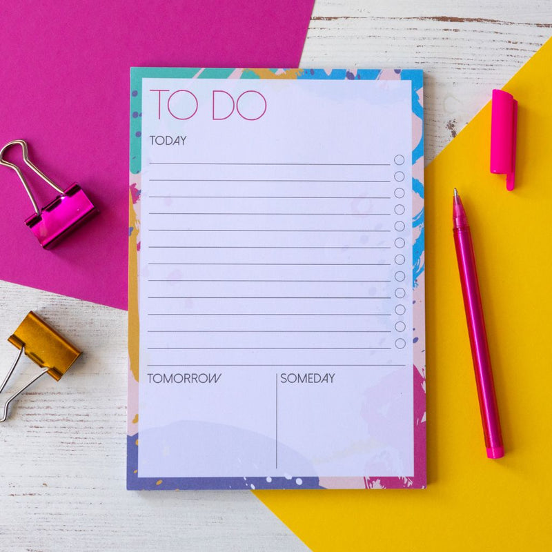 Today Tomorrow Someday Bright | A5 Notepad to do list