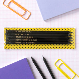 Funny Nurse Pencil Set | Nurse Call The Shots - Bettie Confetti