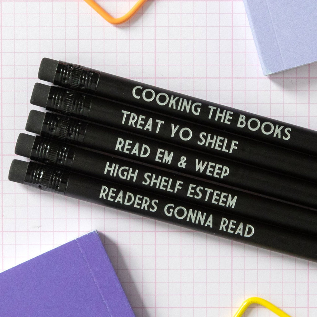 Booklover Pencil Set | Treat Yo Shelf - Bettie Confetti