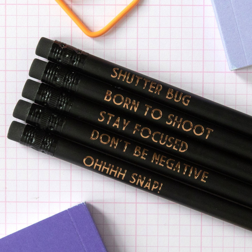 Photography Pencils: Born To Shoot - Bettie Confetti