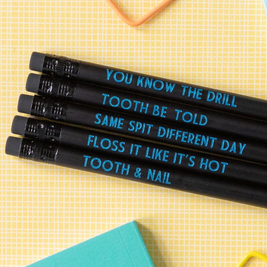 Dentist Pencil Set | Same Spit Different Day - Bettie Confetti