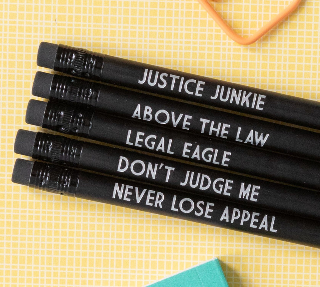Lawyer Pencil Set | Above the Law - Bettie Confetti