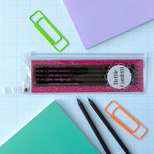 Cat Pencil Set | The Time Is Meow - Bettie Confetti