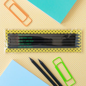 Gardening Pencil Set | I Wet My Plants - Bettie Confetti