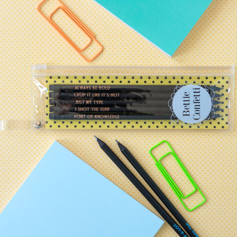 Graphic Designer Pencil Set | Always Be Bold - Bettie Confetti