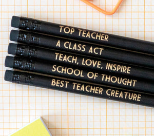 Teacher Pencil Set | Best Teacher Creature - Bettie Confetti