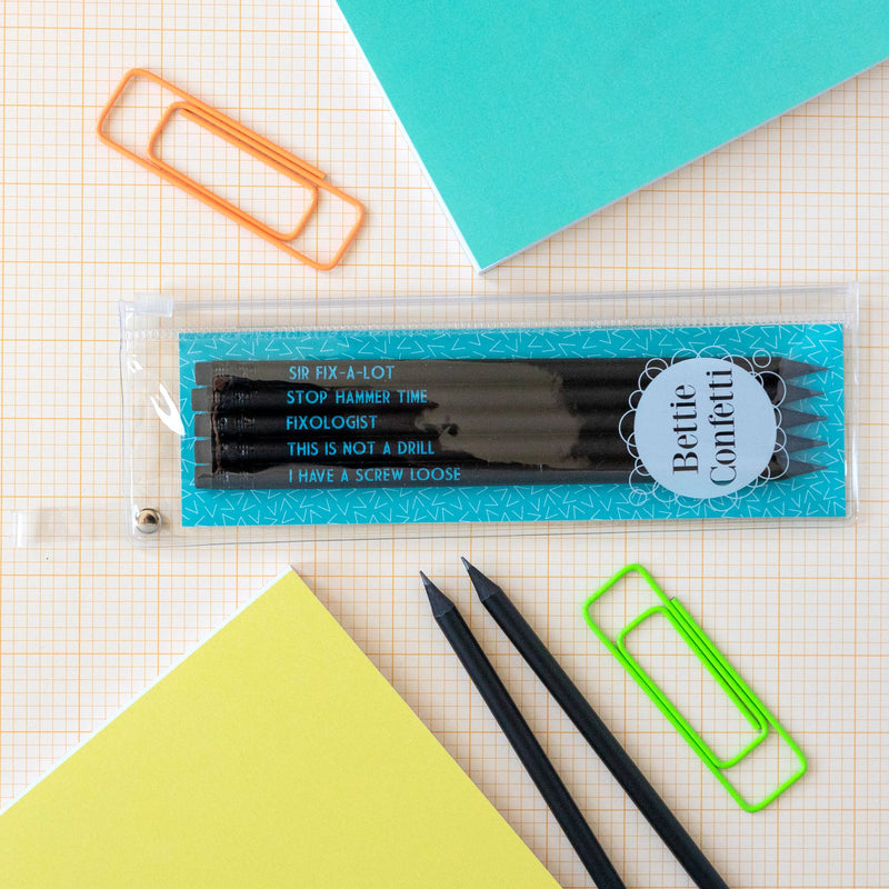 Handyman Pencil Set | This Is Not A Drill - Bettie Confetti