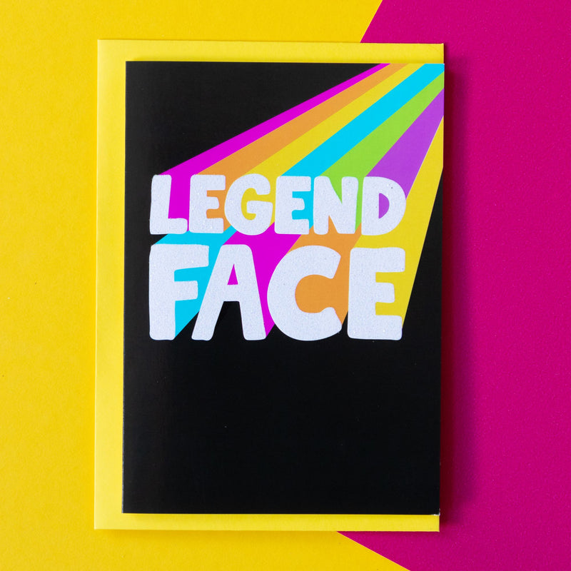 Funny Thank You Card | Legend Face