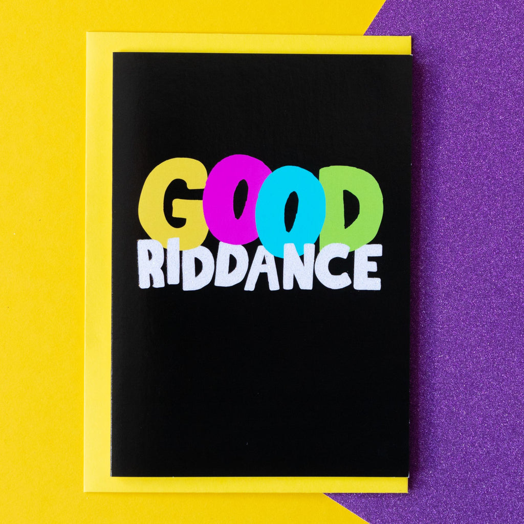 Funny Farewell Card | Good Riddance