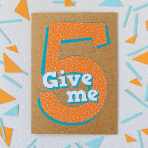 5th Birthday Card | Give Me Five