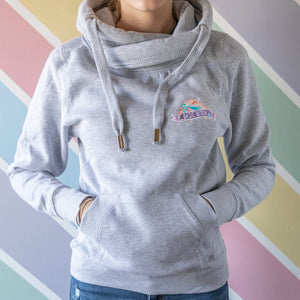 Basic Bitch Cowl Neck Hoodie - Bettie Confetti