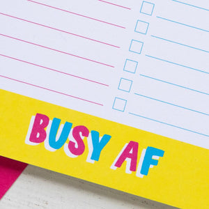 Busy AF Rainbow Notepad | A5 Notepad to do list-Bettie Confetti