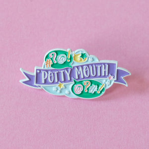 Potty Mouth Enamel Pin - Bettie Confetti