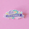 Overthinker Enamel Pin - Bettie Confetti
