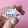 Basic Bitch Enamel Pin - Bettie Confetti