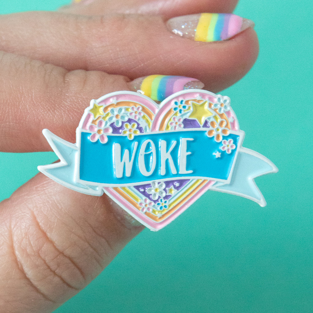 Woke Enamel Pin - Bettie Confetti