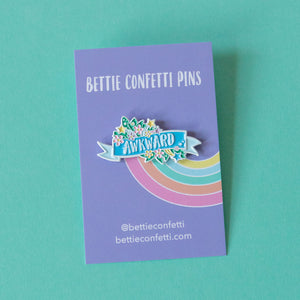 Awkward Enamel Pin - Bettie Confetti