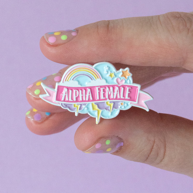 Alpha Female Enamel Pin