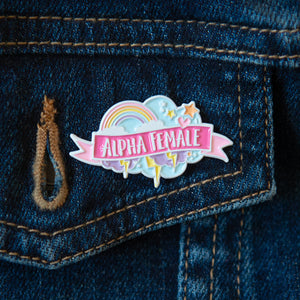Alpha Female Enamel Pin - Bettie Confetti