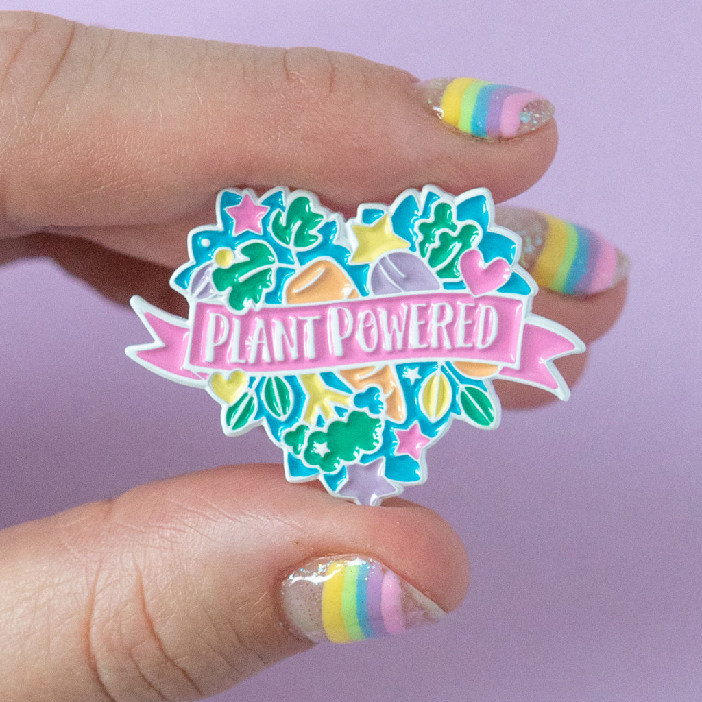 Plant Powered Enamel Pin - Bettie Confetti