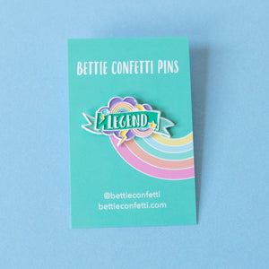 Legend Enamel Pin - Bettie Confetti