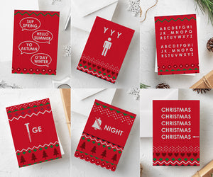 Funny Christmas Cards | Pack of 12 - Bettie Confetti