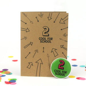 2nd Birthday Sticker Card | Two Cool For School - Bettie Confetti