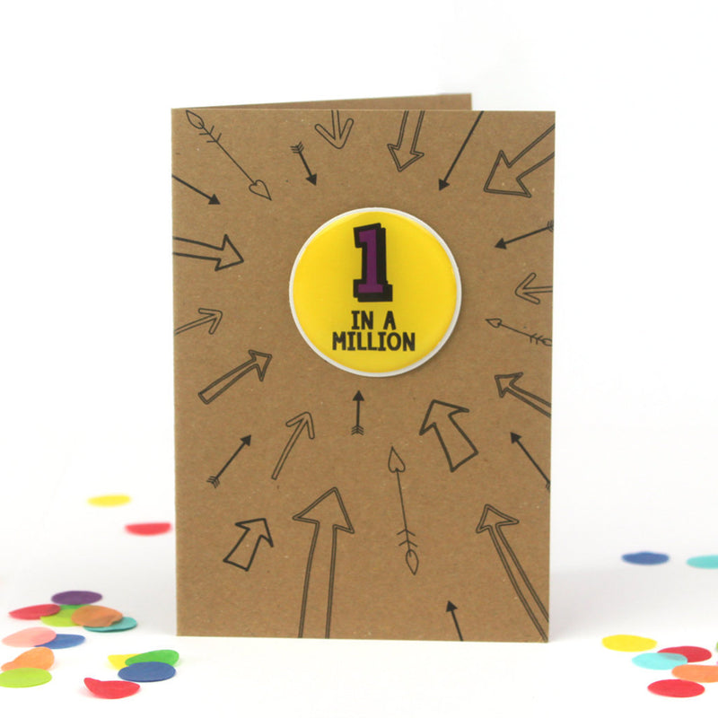 1st Birthday Card | One In A Million - Bettie Confetti