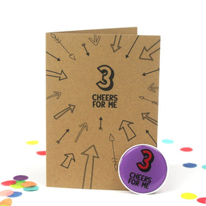 3rd Birthday Sticker Card | Three Cheers For me - Bettie Confetti