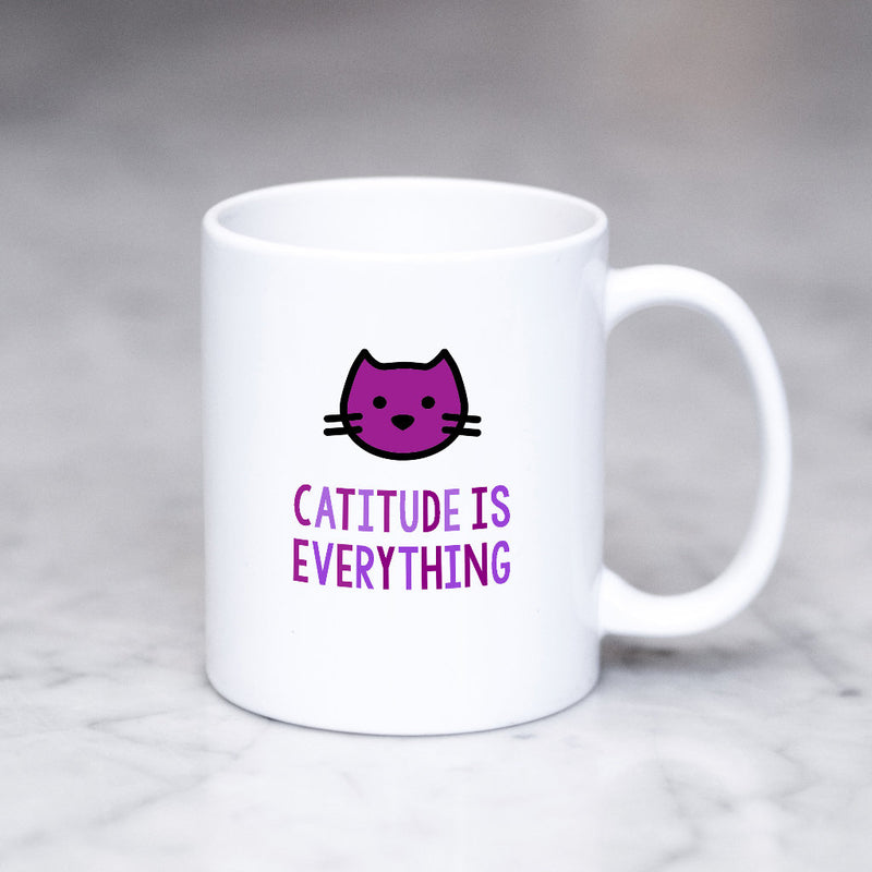 Funny Cat Mug | Catitude is Everything - Bettie Confetti