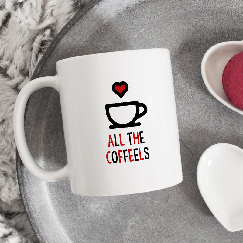 Coffee Lovers Mug | All The Coffeels - Bettie Confetti