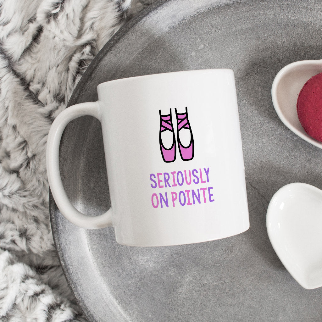 Funny Ballet Mug | Seriously On Pointe-Bettie Confetti