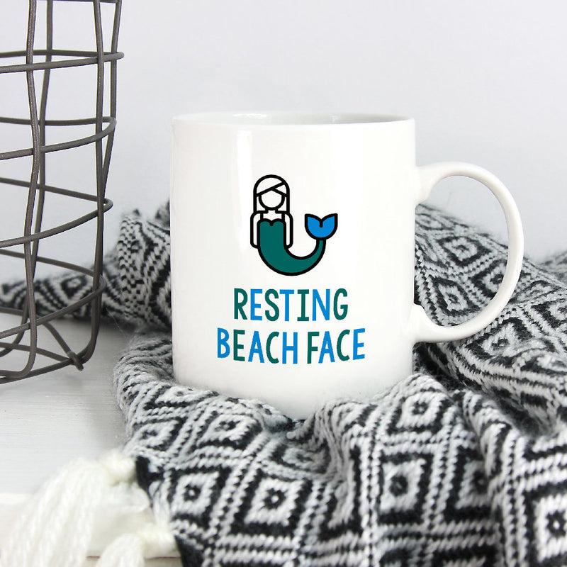Mermaid Mug | Resting Beach Face-Bettie Confetti