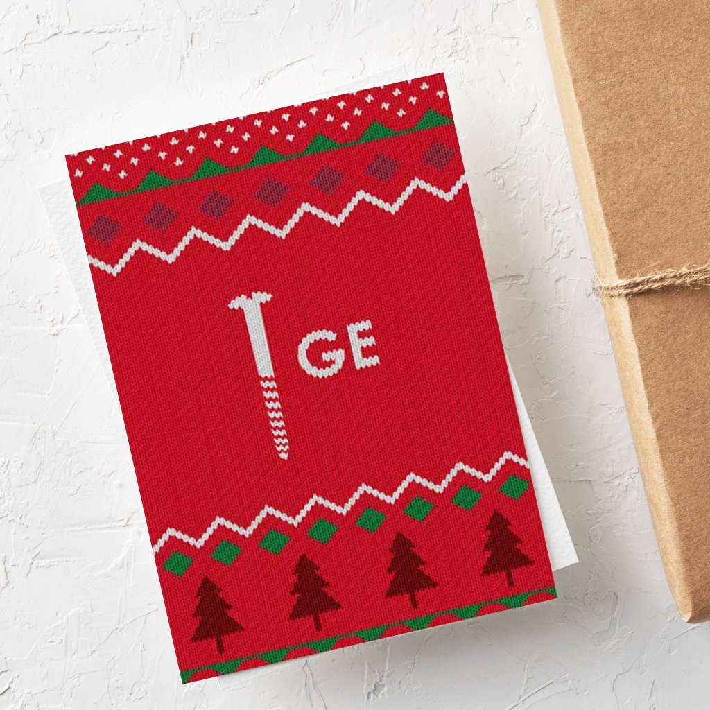 Funny Christmas Card | Scrooge Dingbat - Bettie Confetti